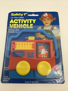 Safety 1st Activity Vehicle Lil Fire Chief Baby Toy Vintage 1993 NIP