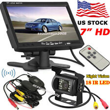 "Wireless Backup Camera System+7"" LCD Car Rear View Monitor for Bus Truck Trailer"