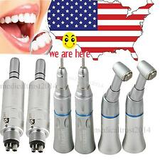 6PC Denshine Dental Low Speed Handpiece STRAIGHT CONE CONTRA ANGLE 4 hole MOTOR