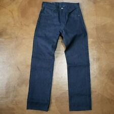 Levi's 501 Shrink To Fit Straight Leg Jeans Dark Blue Men's Size 28 X 30