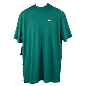 Nike Golf Green Tiger Woods Collection Dri-Fit Mock Neck Shirt Mens Size XL NWT