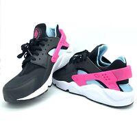 Mens Sz 10.5-13 Nike Air Huarache Run Shoes Black Laser Fuchsia Blue BV2528 001