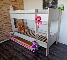 Hochbett  Kinderbett Stockbett Kinderzimmer Etagenbett Rollrost weiß rosa Angebo