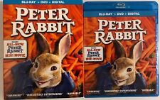 PETER RABBIT BLU RAY DVD 2 DISC SET + SLIPCOVER SLEEVE FREE WORLD SHIPPING BUYIT