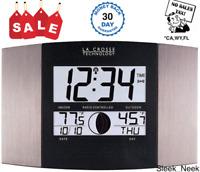 Atomic Weather Station Alarm Clock Radio Indoor Outdoor Temperature Wall Mount