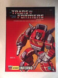 Transformers INFERNO Commemorative Series Autobot G1 MISB