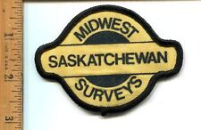 OIL & GAS  MIDWEST SURVEYS HAT/JACKET PATCH  SASKATCHEWAN  -UNUSED