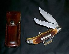 Schrade 25OT Knife & Original Old Timer Sheath Circa-1974 Factory Edges W/Patina