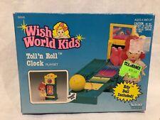 NEW IN SEALED BOX WISH WORLD KIDS TOLL N ROLL CLOCK KENNER EDY DOLL PLAYSET 1988