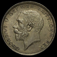 1911 George V Silver Half Crown, A/UNC