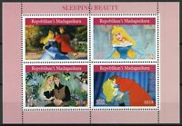 Madagascar 2019 MNH Sleeping Beauty 4v M/S Disney Cartoons Animation Stamps