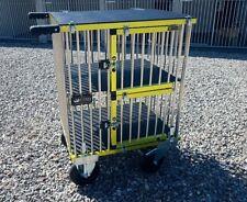 "Titan Double Decker MIDI Aluminium Dog Show Trolley with 8"" All Terrain Wheels"