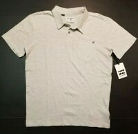 Billabong Men's Standard Issue Polo Shirt EGS Gray White Golf S M L XL NWT FAST