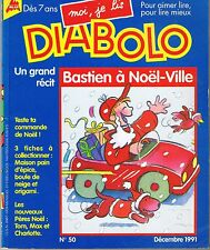 Moi Je lis DIABOLO  n° 50  * Bastien à Noël Ville * FONTENEAU * 1991
