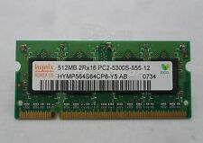 512MB 200P PC2-5300 CL5 8C 32X16 DDR2-667 2RX16 1.8V SODIMM HYMP564S64BP6-Y5