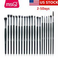 MSQ 20PCs Eye Makeup Brush Set Synthetic Hair Eyebrow Eyeshadow Brushes Kits US