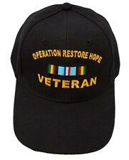 Operation Restore Hope (Somalia) Veteran Ribbon Cap Black