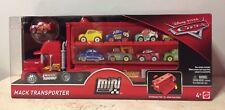 Disney CARS MINI RACERS Mack Transporter Plus 9 MINI Adventures Characters WOW!!