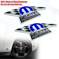 2x Mopar Performance Auto Stickers Emblem Nameplate for Challenger Charger 300