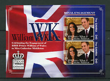 Gambia 2011 Royal Engagement 2v S/S I Prince William Kate Middleton