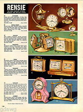 1960 ADVERT Rensie Clock Datotemp Galaxie Carillon Dancing Doll Desk Musical