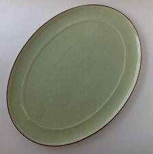Denby England Apple Green Stoneware Oval Serving Platter
