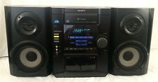 Sony MHC-RG20 3 Disc CD Changer Stereo Deck Receiver Cassette AM/FM w Speakers