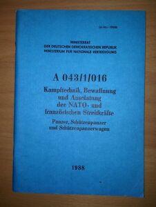 """NVA DDR Handbuch / Dienstvorschrift """" Kampftechnik, Bewaffnung und Ausrüstung """""""