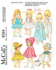 Vintage McCalls 8564 - 12 to 16 inch baby doll sewing patterns