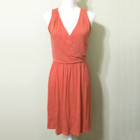 Sleeveless Dress Coral Size Small Women's Stretch Knit Ann Taylor LOFT