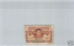 France Tresor 5 Francs 1947 N° A05405498