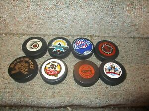 VINTAGE NHL HOCKEY PUCK LOT