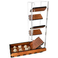 """C4Labs 10"""" Tall Clear Dice Tower & Basic Tray - Gunstock"""