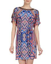 Donna Morgan Becca Bead Embellished Cold-Shoulder Shift Dress, 6R - MSRP $134