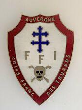 More details for wwii france french resistance enamel breast badge