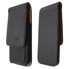 caseroxx Flap Pouch voor HTC U12 Life in black gemaakt van real leather