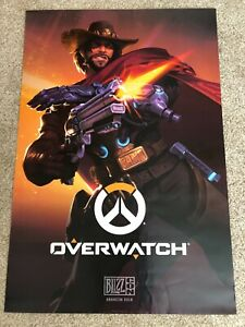 """McCree Overwatch Poster - Blizzcon 2018 - 27"""" x 40"""""""