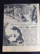 N1-5 Ephemera 1957 Picture Article Road Safety Islington Margaret Thomas Rapetti
