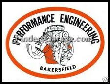 PERFORMANCE ENGINEERING Vintage Style Decal/Sticker