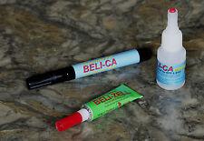 Kleber-Set: Beli-Zell + Beli-CA medium Sekundenkleber + Akivator-Stift - je 1x