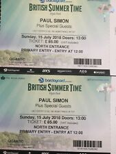 Pair Paul Simon Hyde Park concert tickets July 15th 2018