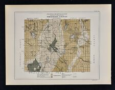 1884 Minnesota Geology Map - Freeborn County - Bancroft Manchester Twin Lakes MN