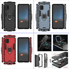 For Samsung Galaxy Note 10 Lite, Shockproof Rugged Ring Car Holder Case + glass