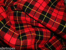 "Acrylic Tartan Fabric Width 53"" Wallace 4 Yard 144' Long & 53"" Wide Multi Color"