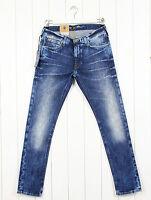 """NUEVO Lee LUKE Jeans """"Frozen Impermeable"""" CÓNICO Entallado Azul L32/L34"""