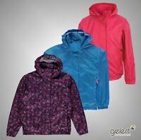 Girls Gelert Outdoor Full Zip Packaway Waterproof Jacket Sizes Age 7-13
