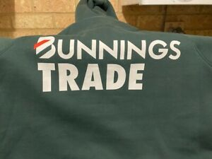 Brand New Bunnings Trade Jumper  XL    Forrest  Green with hood
