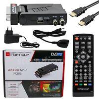 Opticum Lion Air 2 DVB-T2 Terrestrische Receiver H.265 HEVC HDTV Camping Mobiler