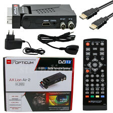 Opticum Lion Air 2 DVB-T2 Terrestrial Receiver H.265 Hevc HDTV Camping Mobile