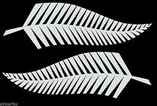 2 x  NZ INK MAORI  SILVER FERN CAR DECAL STICKER 3M VINYL NZ PRIDE SFX043